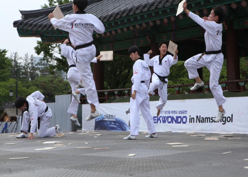 Taekwondo in Namsangol Hanok Village 2018 - Events